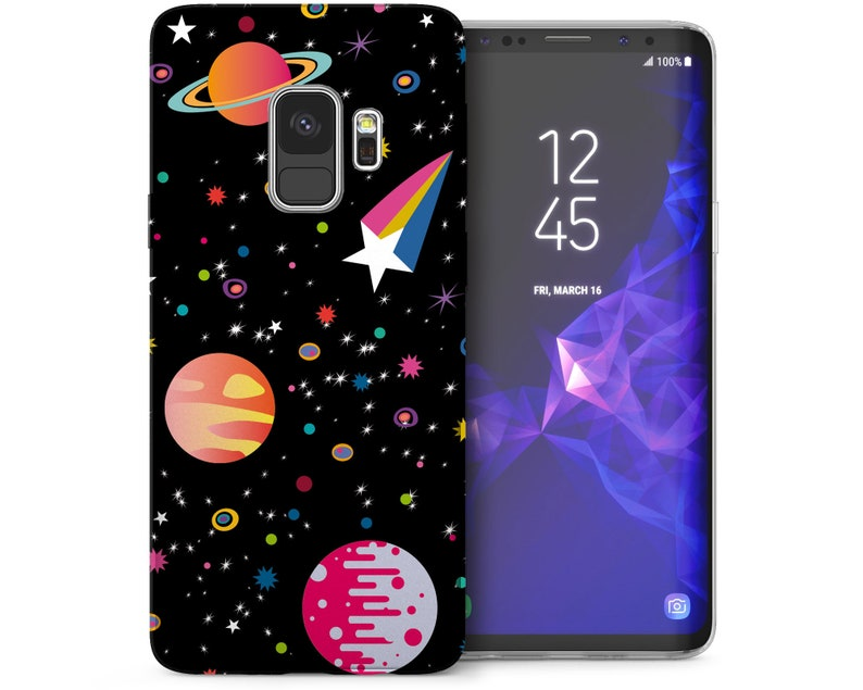 outlet store 68c1e 8b139 Samsung Galaxy S9 Case Cool Space Art Patterned Cover Samsung Galaxy S9  Plus Cases Best Planets and Stars Pattern Silicone TPU Gel Covers