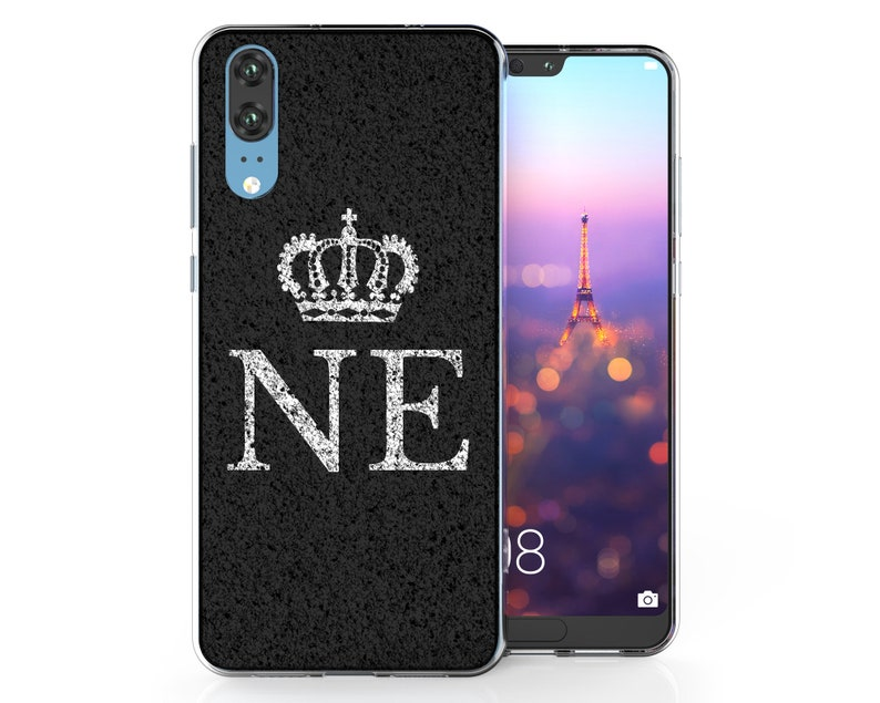 cheap for discount b59c3 96010 Huawei P20 Pro Marble Effect Crown Patterned Huawei P20 Case, Huawei P20  Lite Cases Personalised Valentines Gift Pattern Silicone Gel Covers