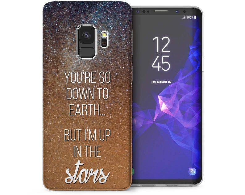 new style b969f 64e50 Samsung Galaxy S9 Case Best Down To Earth Patterned Cover Samsung Galaxy S9  Plus Cases Up In the Stars Quote Pattern Silicone TPU Gel Covers