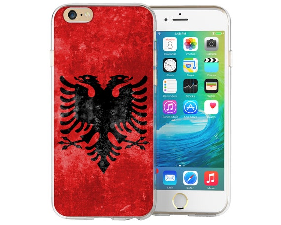 online store c656d 00c3f iPhone 6 Case Retro Albania Football Flag Patterned Cover iPhone 7 Cases  Albanian Flag Pattern Silicone Gel Covers