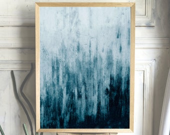 Blue/Abstract/Painting/Print/Poster/Art/A4 Print/A3 Print/Scandinavian/Hygge/Modern/Stylish/Cosy/Interior/Decor/Home/Accessories - ropoko