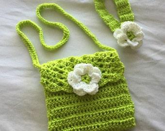 Girls crochet cross body purse