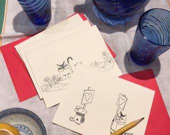 Pack of five SkunkAngel cards
