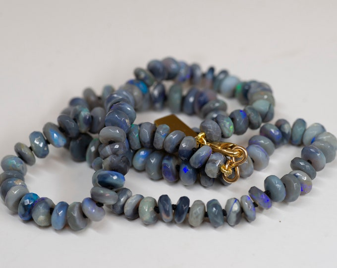 Lightning Ridge Faceted Australian Opal Candy Necklace