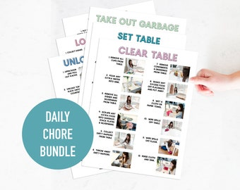 All Daily Chores Bundle: Step by Step Visual Aid Chore Guides