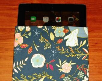 Book Sleeve, Tablet Sleeve, Book Cover, Book Case, iPad Sleeve, iPad Case, Floral Wonderland