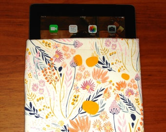 Book Sleeve, Tablet Sleeve, Book Cove,r Book Case, iPad Sleeve, iPad Case, Spring Blossom