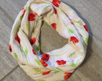 Toddler/Child Flower Infinity Scarf