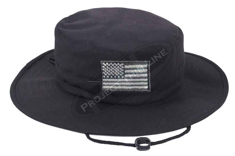 Tactical American Flag Adjustable Boonie Hat Choose Pattern Style