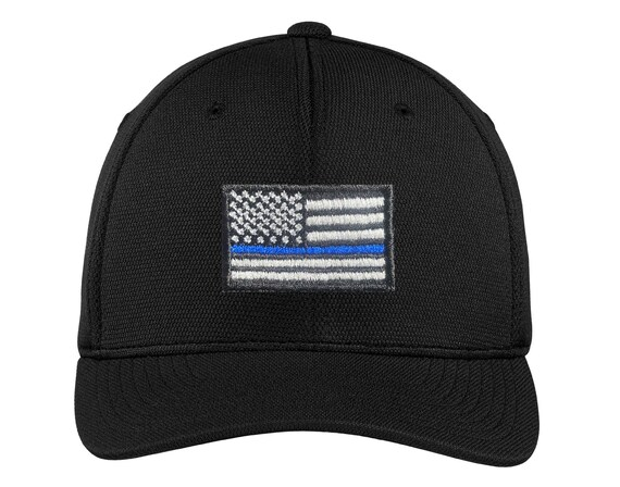 Embroidered Thin Blue Line Subdued American Flag Law Enforcement Visor