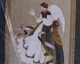 Counted Cross Stitch Pattern |Lavender & Lace | Angel Of Grace