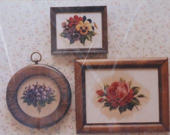 Counted Cross Stitch Pattern | Lavender & Lace | Violets Pansies Roses