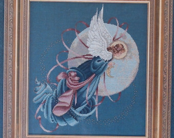 Counted Cross Stitch Pattern | Lavender & Lace | Blue Moon Angel