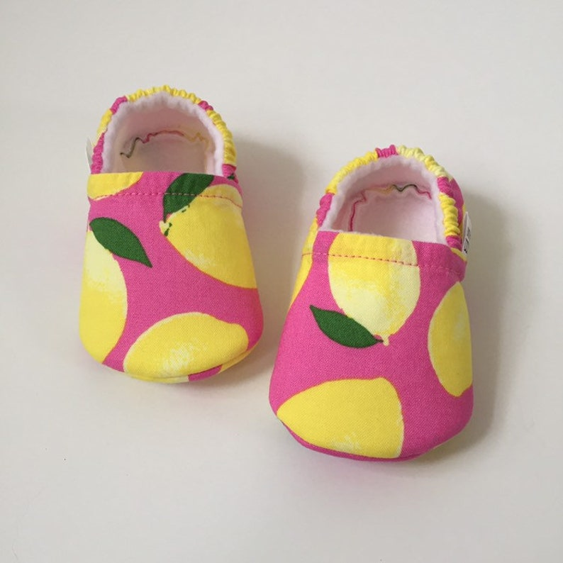 Lemon baby booties slippers crib shoes