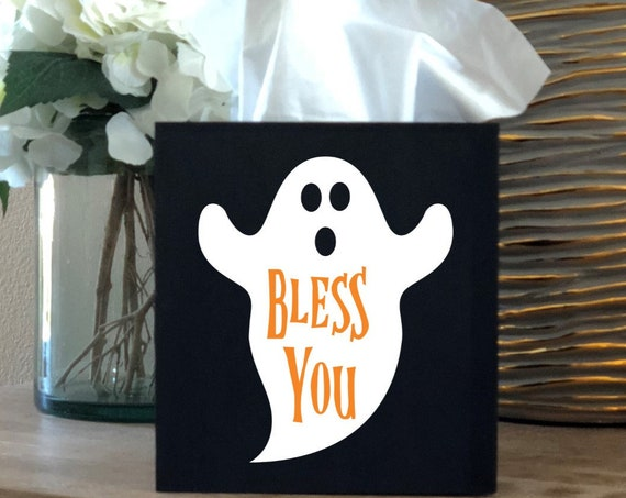 Halloween Ghost Bless You Tissue Box Cover ~ Kleenex ~ Home Decor ~ Choose Your Colors ~ Home Decor ~ Halloween Decor ~ Ghost