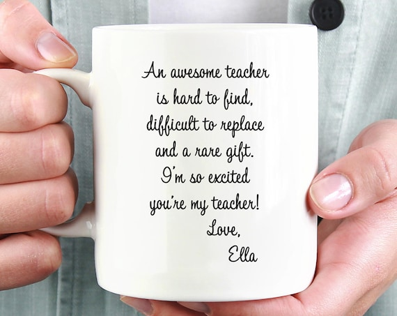 Personalized Awesome Teacher Mug ~ Teacher Gift ~ School Gift ~ Christmas Gift ~ Back to School ~ Gift from Student ~ Gift from Child