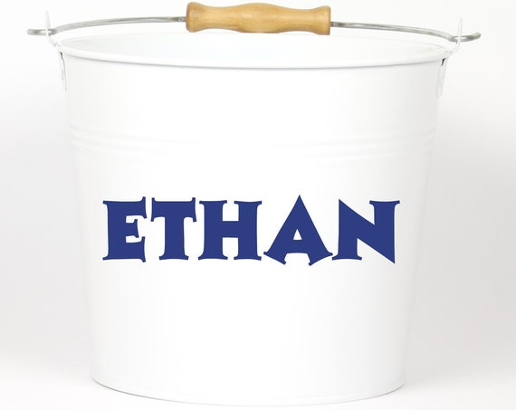 Personalized Fun Name Pail - Choose The Color - Pail Bucket Basket for Girls and Boys