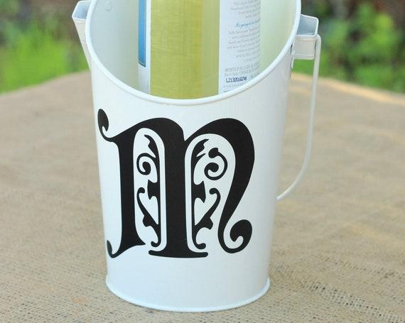 Monogram Wine Bucket ~ Pail ~ Gift