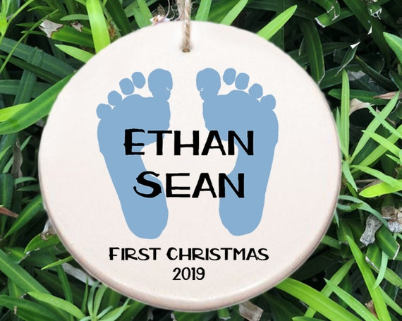 Personalized Baby's First Christmas Ornament ~ Baby Ornament ~ Baby Shower Gift ~ Christmas Gift ~ Baby Boy Gift ~ Baby Feet~ Newborn Gift