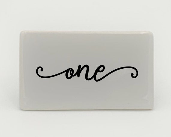 Wedding Table Numbers ~ Choose Shape and Color ~  White Ceramic ~ Wedding Signage ~ Table Number ~ Party Decor ~ Party Table Numbers