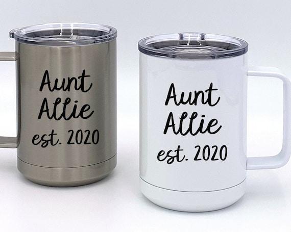 New Aunt Ceramic Insulated Mug ~ Personalized