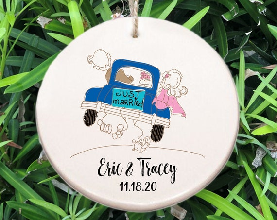 Personalized Newlyweds First Christmas Ornament ~ Just Married Ornament