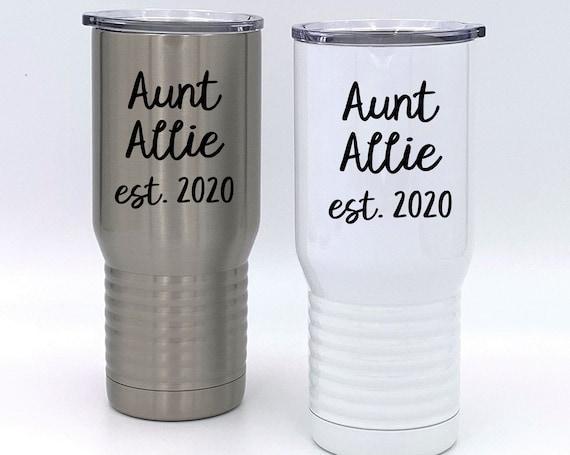 New Aunt Ceramic Tumbler ~ Personalized