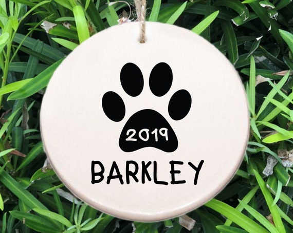 Personalized Paw Ornament ~ Dog Ornament ~ Free Personalization ~ Christmas Gift ~ Custom Christmas ~ Cat ~ Pet Ornament ~ Holiday