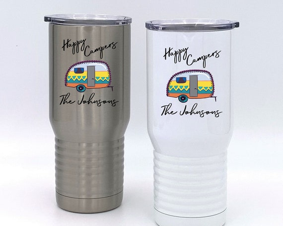 Personalized Happy Campers Insulated Tumbler