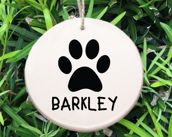 Personalized Paw Ornament ~ Dog Ornament ~ Free Personalization