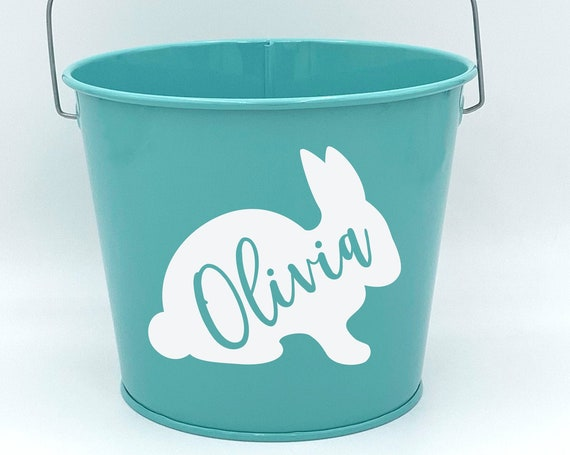 Personalized Bunny Easter Pail ~ Bucket ~ Basket