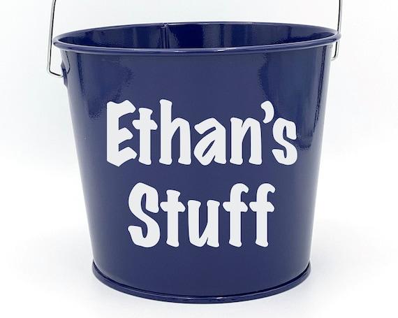 Personalized Stuff Name Pail ~ Bucket