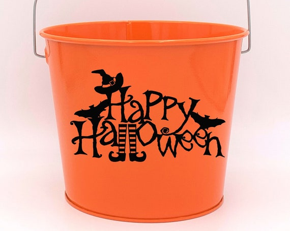 Halloween Candy Pail ~ Trick or Treat ~ Choose The Colors