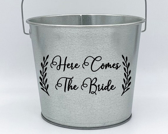Here Comes the Bride Flower Girl Pail