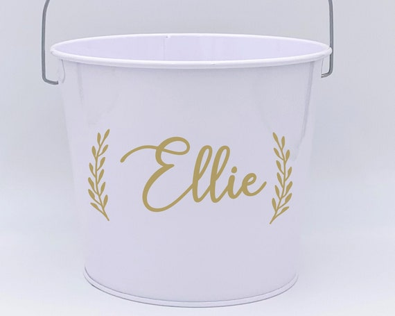 Personalized Flower Girl Pail ~ Basket ~ Bucket