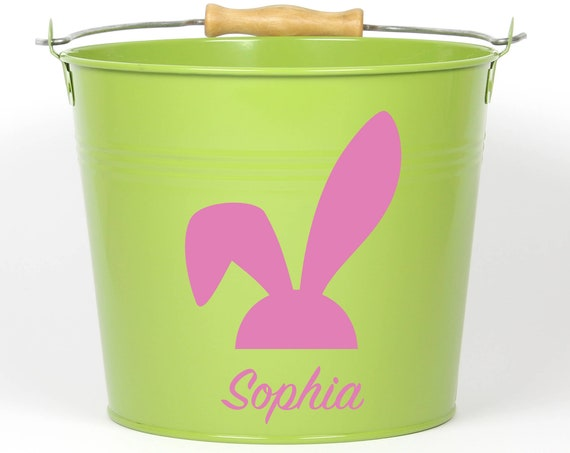 Personalized Bunny Easter Pail ~ Choose The Color ~ Easter Basket