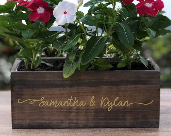 Personalized Wood Planter Box