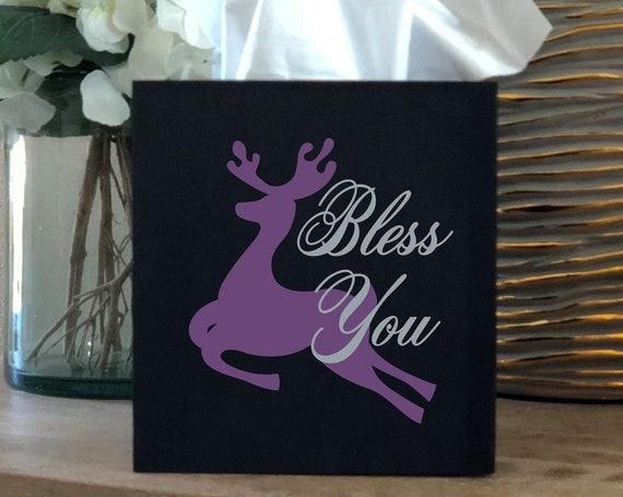 Christmas Reindeer Bless You Tissue Box Cover
