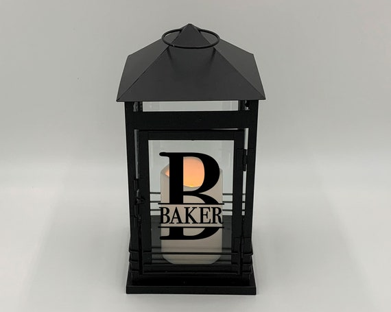 Personalized Black Metal Lantern ~ Wedding Gift ~ Engagement Gift ~ Bridal Shower Gift ~ Anniversary Gift ~ Home Decor ~ Housewarming Gift