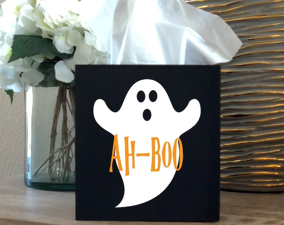 Halloween Ghost Ah-Boo Tissue Box Cover