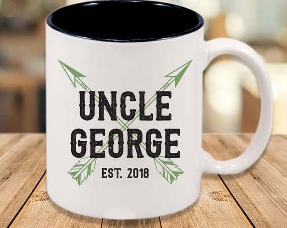 Personalized New Uncle Mug ~ Baby Shower ~ New Baby ~ Brother ~ Uncle Gift ~ Gift for Uncle ~ New Uncle Surprise Gift ~ Tell Your Brother