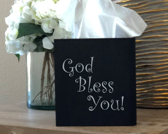 God Bless You Tissue Box Cover ~ Choose Your Colors