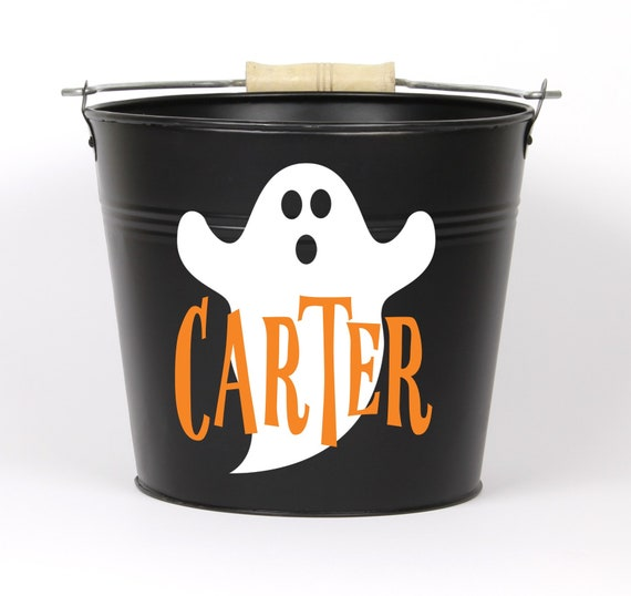 Personalized Halloween Ghost Name Pail