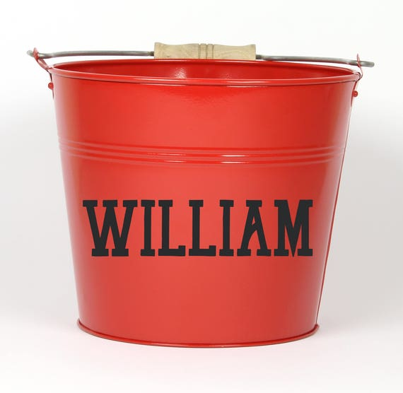 Personalized Name Pail - Choose The Color - Pail Bucket Basket for Girls and Boys