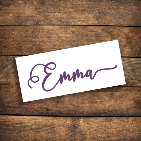 Personalized Name Decal ~ Choose Size & Color ~ Wedding Decal ~ Flower Girl Decal ~ Name Sticker ~ Wedding Name Decal