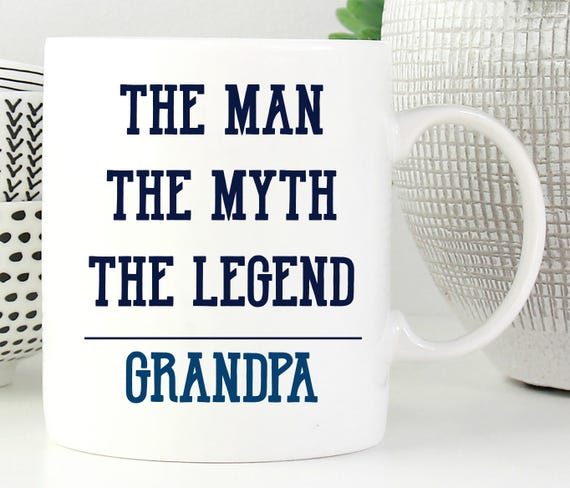 Personalized Man Myth Legend Mug ~ Gift for Grandpa - Dad - Brother - Grandfather - Great Guy - Custom Mug - Gift for Dad ~ Grandpa ~ Name
