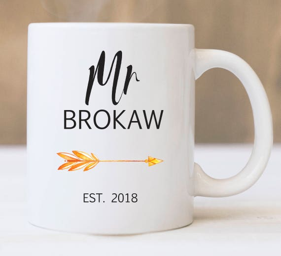 Personalized Mr. Coffee Mug ~ Last Name and Year ~ Wedding Gift ~ Gift for Him ~ Gift for Groom ~ Custom Name and Year