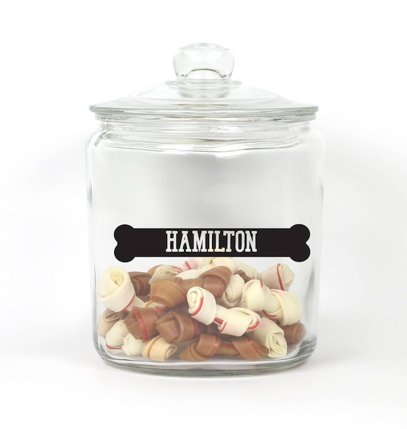 Personalized Dog Bone Treat Jar - Choose Your Colors - Bone - Pet Treat Storage - Pet Treat Jar ~ Dog Bone Treat Jar ~ Container