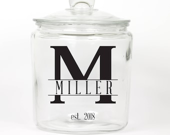 Personalized Last Name Cookie Jar