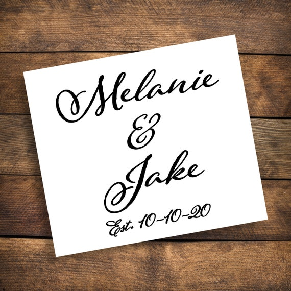 Personalized Names Decal ~ Choose Size & Color ~ Wedding Decal ~ Couple Decal ~ Name Decal ~ Decor ~ Wedding Name Decal ~ Wedding Date